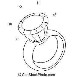 vector set of wedding ring