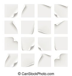 Vector set of white stickers