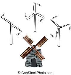 vector set of wind turbine