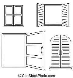 vector set of window
