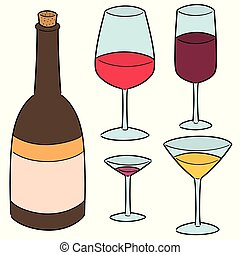 vector set of wine