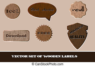 Vector set of wooden labels