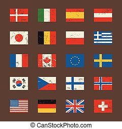 Vector set of world flags.