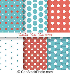 vector set pastel seamless patterns