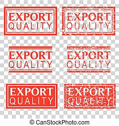 set red rubber stamp effect, export quality, at transparent effect background