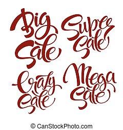 Vector set Sale lettering