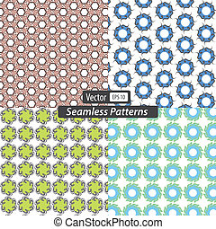 Vector set seamless patterns
