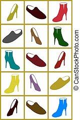 vector set shoes
