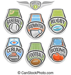 Vector set sports logo