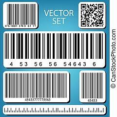 vector, set, streepjescode