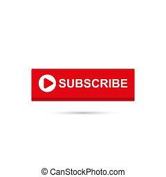 Vector set subscribe button icon.
