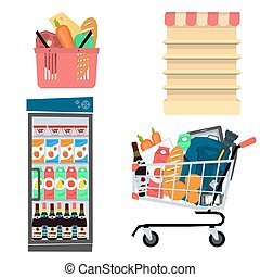 Vector set supermarket icons