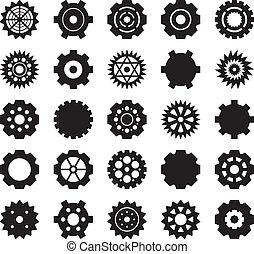 vector, set, tandwiel