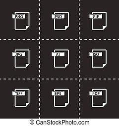 Vector,  Set,  type, bestand, iconen