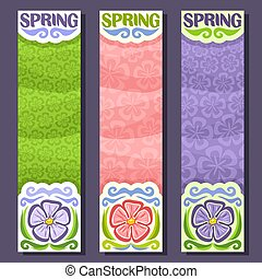 Vector set vertical banners for Spring season
