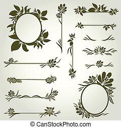 Vector set - vintage design element