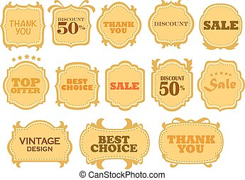 Vector set vintage labels