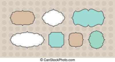 Vector set vintage labels. Vintage frames and design elements - with place for your text