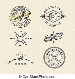 Vector set vintage school labels