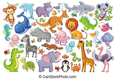 Vector set with animals.