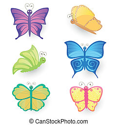 Vector Set with Butterflies