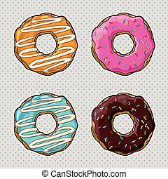 Vector set with cookies and donuts