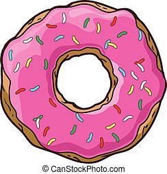 Vector set with donuts