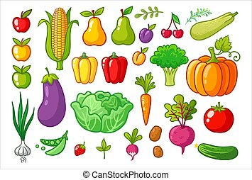 Vector set with vegetables.