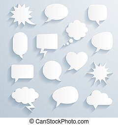Vector shaded comic baloons - Set of funny vector shaded...