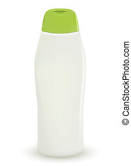 Vector shampoo isolated on white background