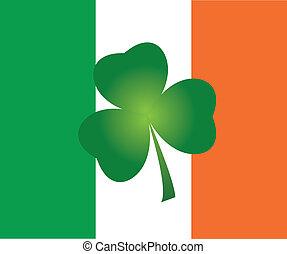shamrock - vector shamrock on Irish flag