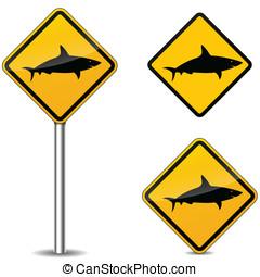 Vector shark signs