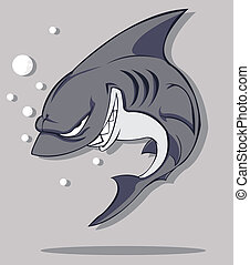 vector, shark.