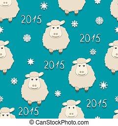 Vector sheep - symbol of 2015