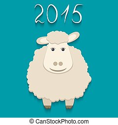 Vector sheep - symbol of 2015