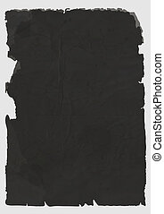 Vector sheet of black torn paper