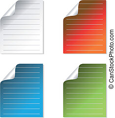 Vector sheet of paper