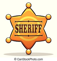 Vector sheriff badge color design