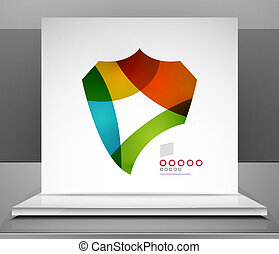 Vector shield abstract background