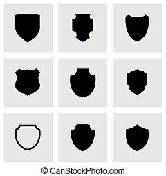 Vector shield icon set