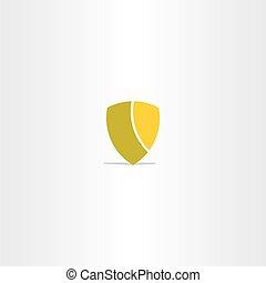 vector shield simple icon design