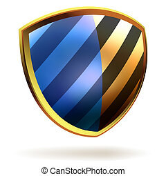 Vector shield template item. EPS 8 vector file included