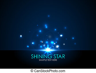 Vector shining star