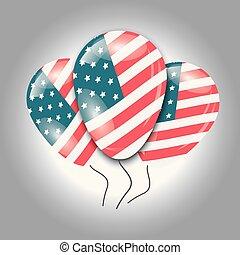Ballons with USA flag