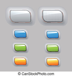 Vector shiny buttons