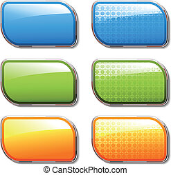 Vector shiny color buttons