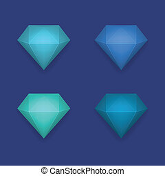 Vector shiny diamond background