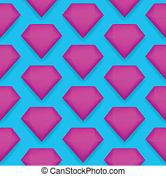 Vector shiny diamond seamless pattern