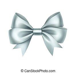 Shiny Light Blue Satin Gift Bow Close up