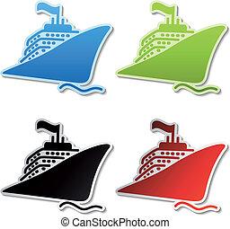 Vector ship stickers